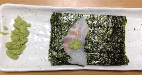 焼き海苔に鯛