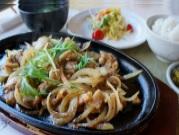 地鶏鉄板焼き定食