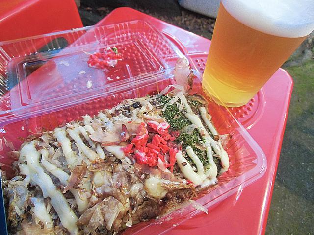 広島焼とビール