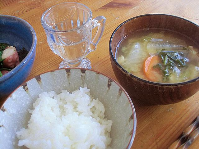 いろいろ野菜の味噌汁
