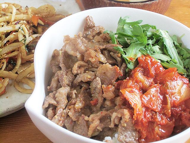 肉丼韓国風