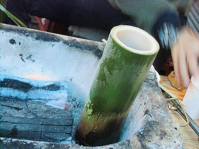 竹筒の燗酒