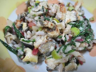 ウナギさんと夏野菜の炒飯