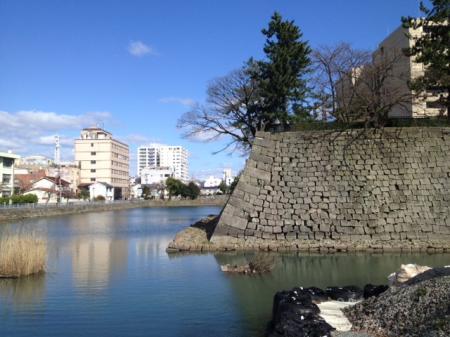 福井城のお堀縮小