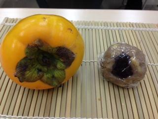 柿と栗きんとん