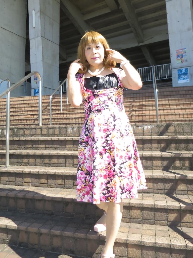 花柄ワンピースB(5)