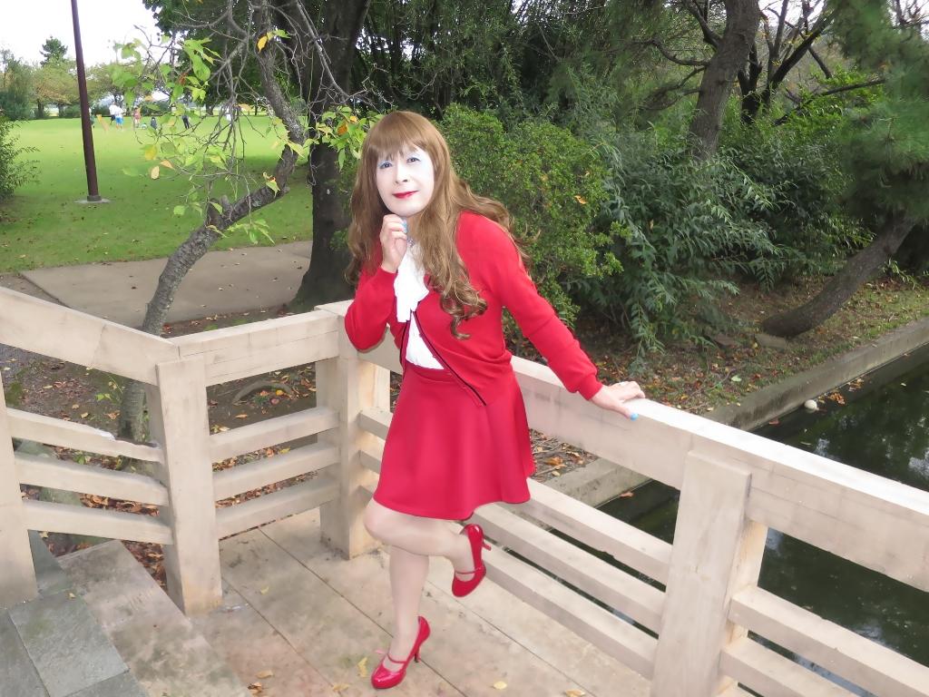 赤カーデ赤ミニフレアB(3)