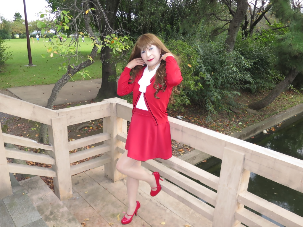 赤カーデ赤ミニフレアB(5)