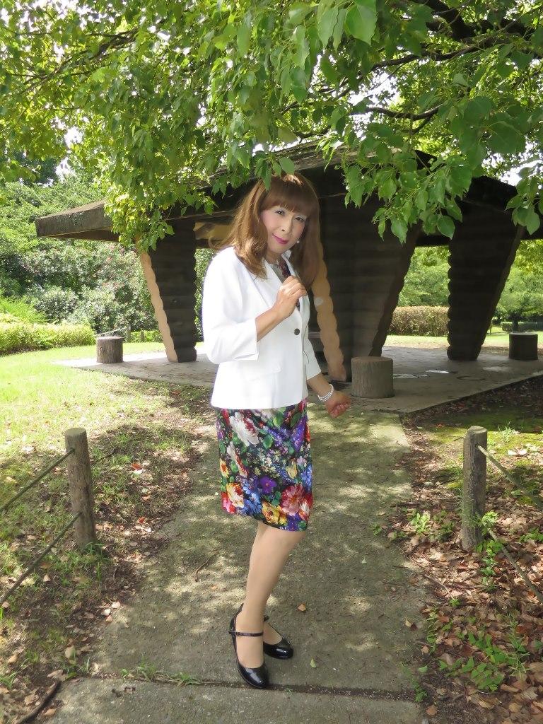 シルク花柄ワンピA(4)