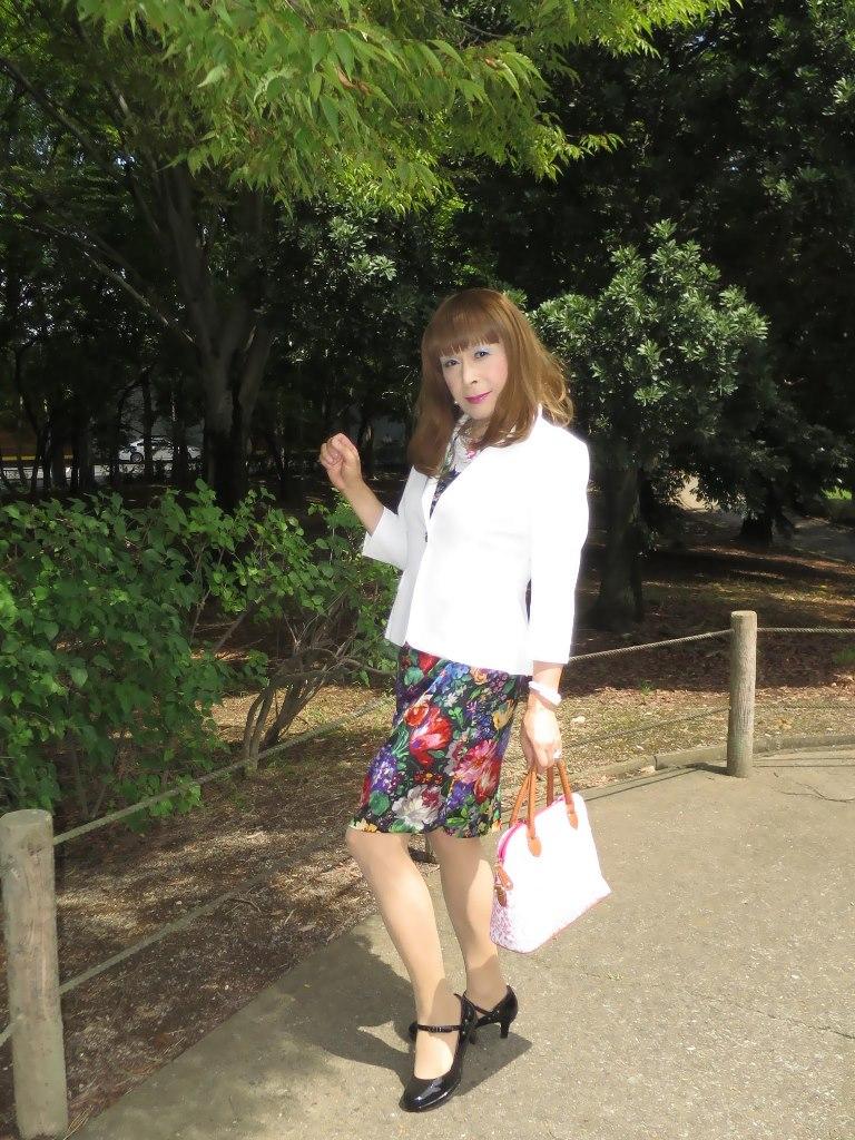 シルク花柄ワンピA(5)