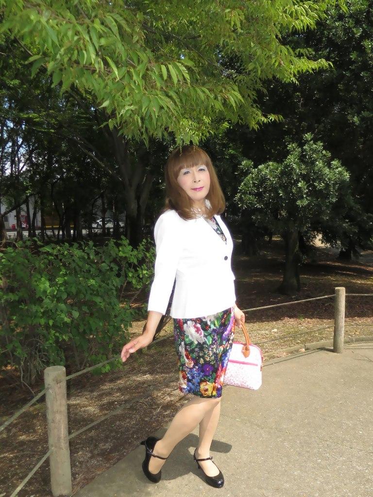 シルク花柄ワンピA(6)