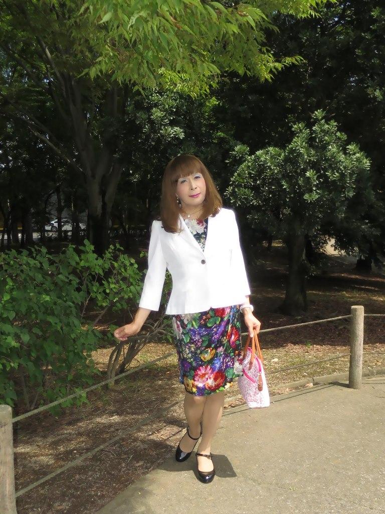 シルク花柄ワンピA(8)