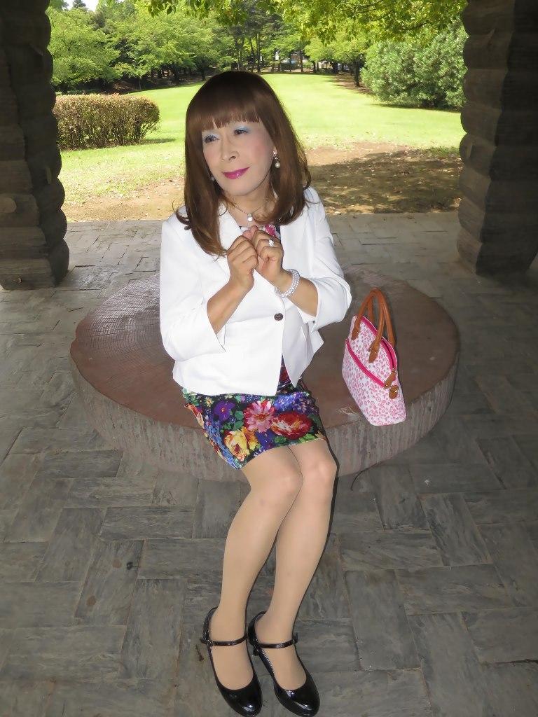 シルク花柄ワンピB(6)