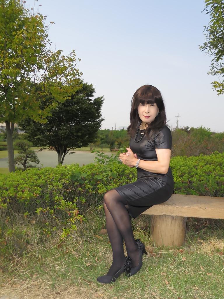 黒タイトワンピB(5)