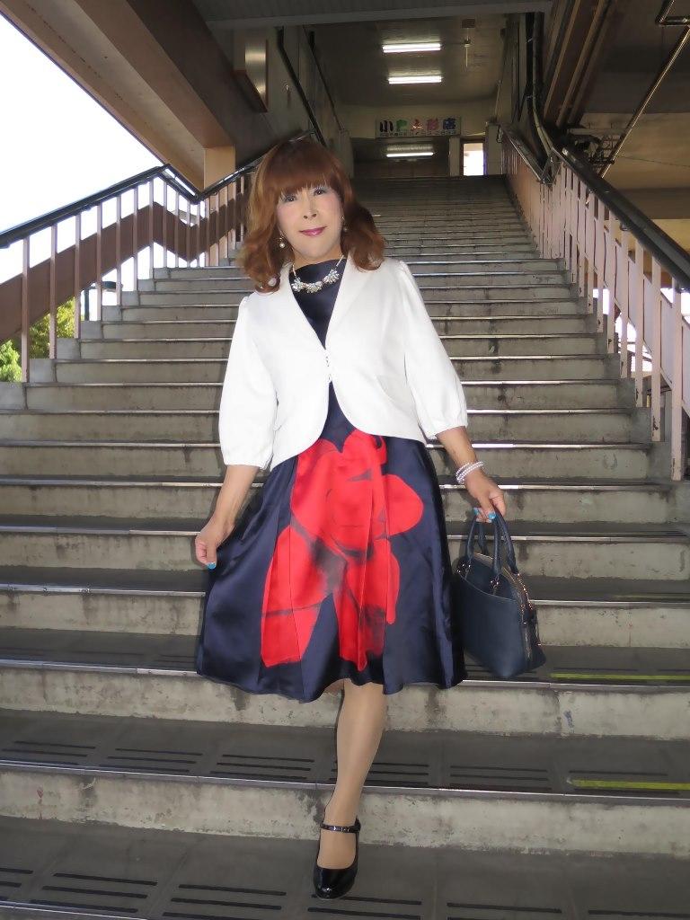 紺ワンピ白ジャケットA(1)