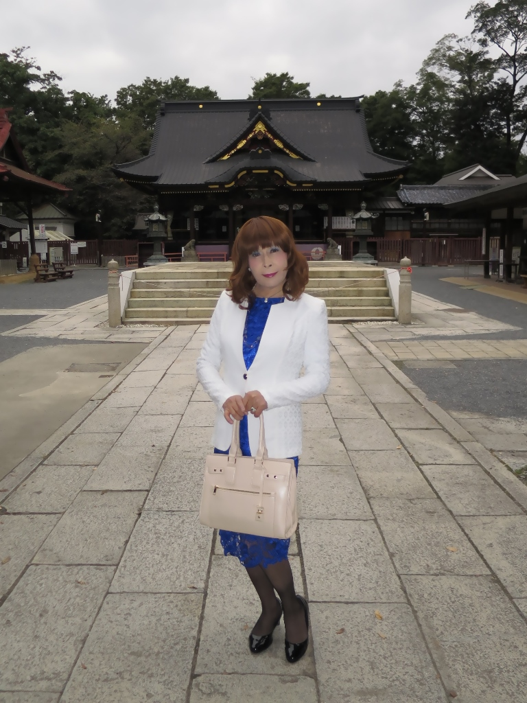 青レースワンピ白ジャケットA(2)