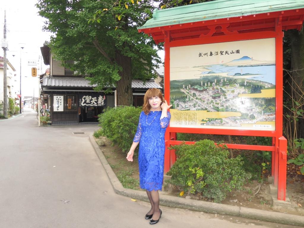 青レースワンピ聖天山B(1)