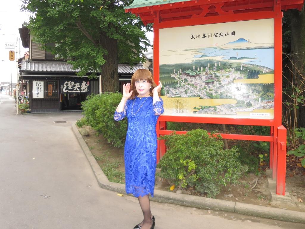 青レースワンピ聖天山B(4)