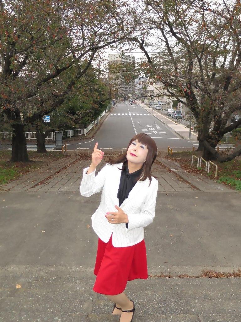 白縞ジャケット赤スカートA(3)