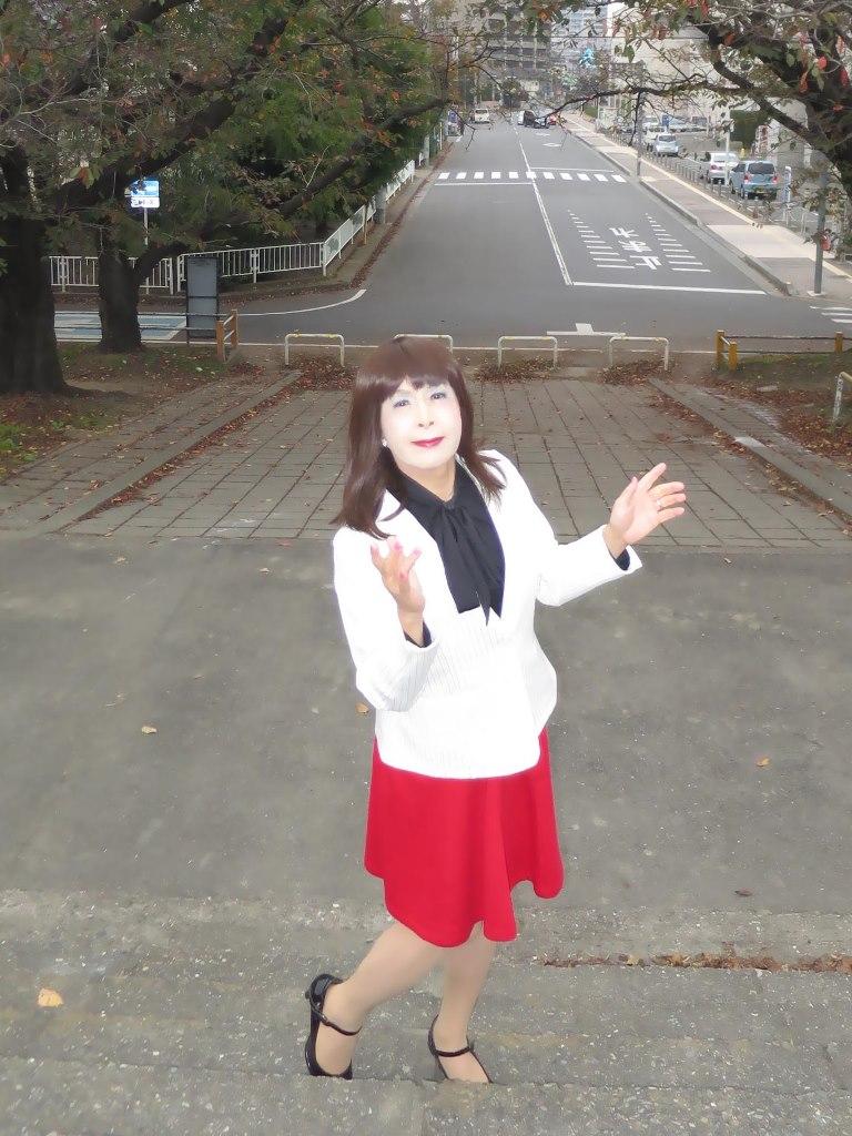 白縞ジャケット赤スカートA(5)