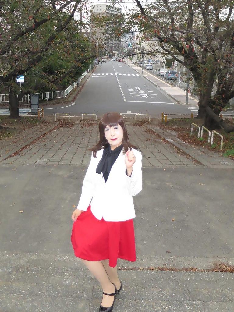 白縞ジャケット赤スカートA(4)