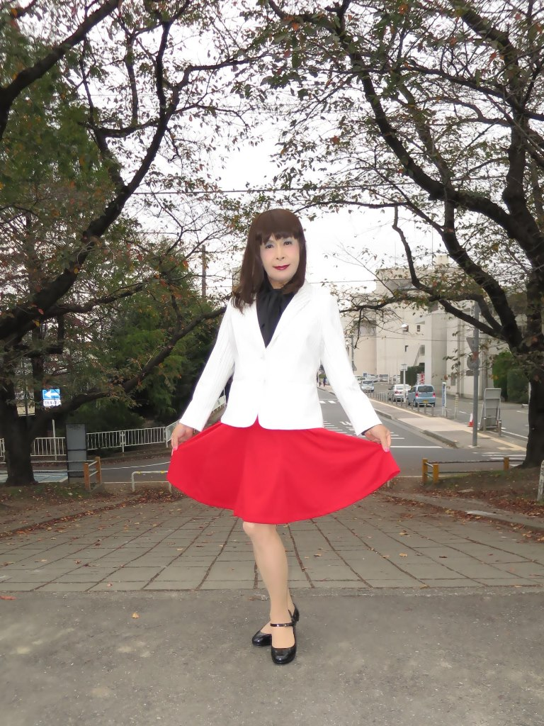 白縞ジャケット赤スカートA(6)