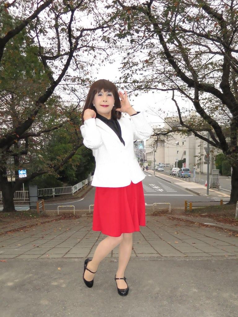 白縞ジャケット赤スカートA(7)