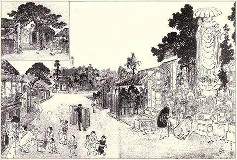 総泉寺の参道とお化け地蔵
