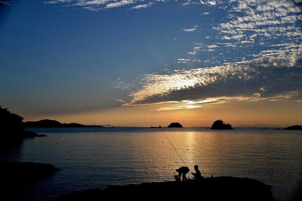 鴨池の夕景