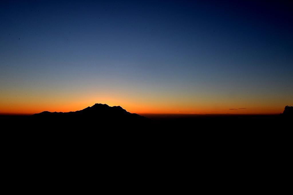 黄昏の石鎚山