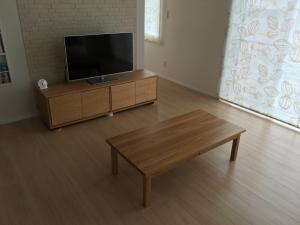 無印良品のローテーブルとテレビボード