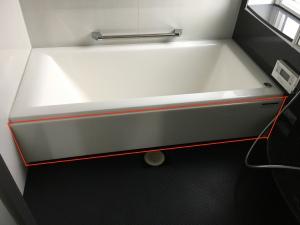 浴槽のエプロン
