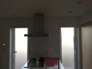 キッチンの窓が凍結