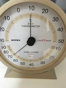 ハニカムシェード内の温度と湿度