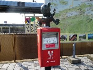 境港駅前の鬼太郎ポスト