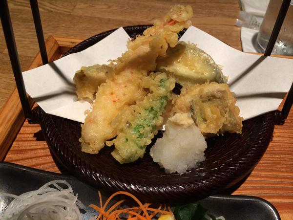 博多いねや-刺身天ぷら定食2
