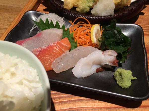 博多いねや-刺身天ぷら定食3