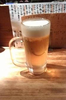 生ビール350円丑寅20151030