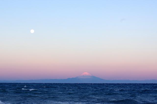 月と富士山~♪