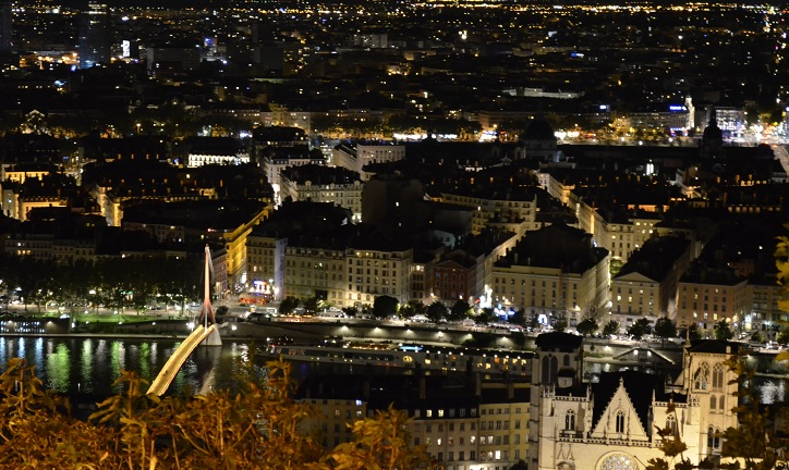 night view from fourviere 1