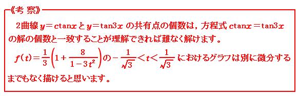 2015 岐阜大学理系(医学部を含む) 第5問 三角関数 考察