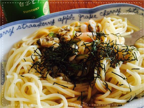 魚介醤油パスタ_1