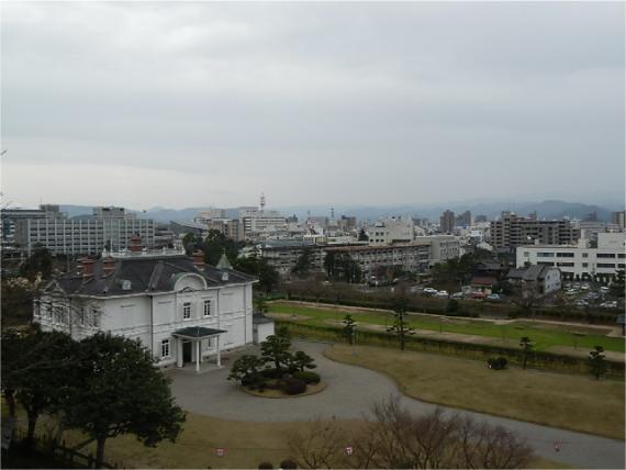 鳥取城跡からの眺め