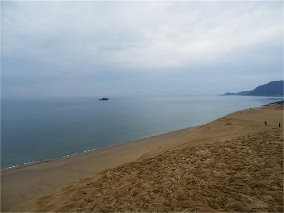 鳥取砂丘から見た日本海