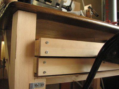 木工で机4