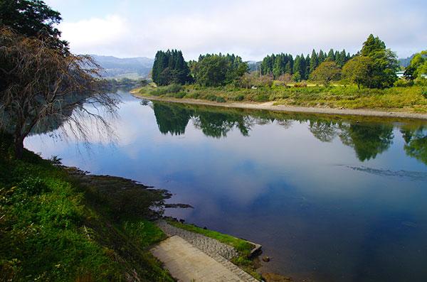 最上川の本合海