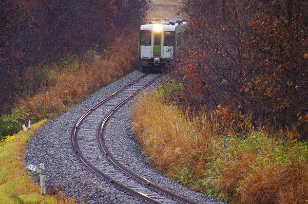 晩秋の釜石線