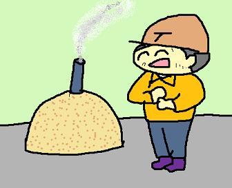 クン炭作り