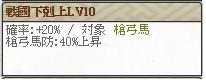スキル 戦國下剋上Lv10