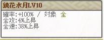 スキル鏡花水月Lv10